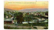 Ticonderoga NY - CHAMPLAIN CANAL & TOWN - Postcard