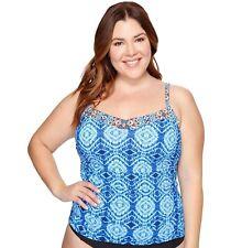 dcb3137912 Bleu Rod Beattie Tankini W matching Skirted Brief Swimsuit Set Plus 22w