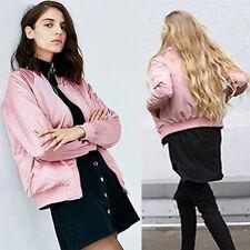 Womens Jacket Long Sleeve Bomber Biker Camouflage Floral Print Boho Coat Outwear