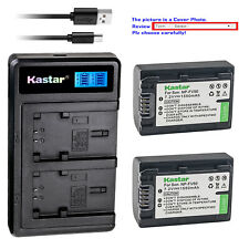 Kastar Battery LCD Dual Charger for NP-FV50 & Sony DCR-SX15 DCR-SX20 DCR-SX21