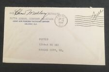 AAFSAT FLA 1944 FREE FRANKED CANCEL ON COVER TO Kansas