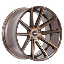 F1RF27 18x9.5 5x100/114.3 20ET Machined Bronze Wheels/Rims Fit Ford Mustang GT