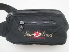 -AUTHENTIQUE sac banane K-WAY / NEW LAND toile   bag