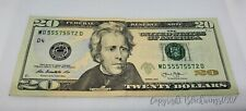 RARE $20 US USD NOTE TRINARY CURRENCY SERIES 2013 REPEATER PATTERN CRISP FANCY