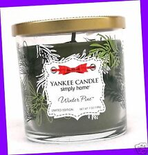 1 Jar Yankee Candle WINTER PINE 7 oz Candle Tumbler Jar HOLIDAY DESIGN