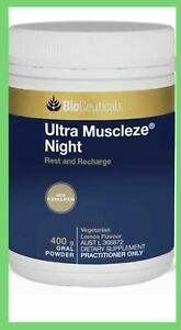 1 X Bioceuticals Ultra Muscleze Night 400g( EXPESS POST) Expiry:05/23