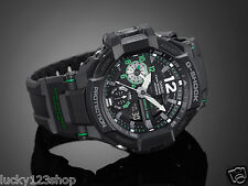 GA-1100-1A3 BLACK GREEN CASIO G-SHOCK GRAVITY DEFIER TOUGH ANALOG 200M NEW