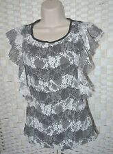Ruffle Frill Lace Top Manufactured for Oasis