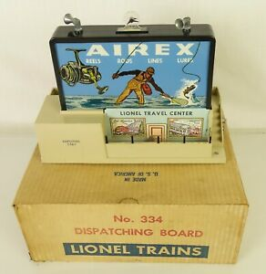 LIONEL #334 POSTWAR VERY NICE DISPATCHING BOARD-VG+ IN ORIGINAL BOX!