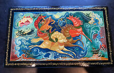 Estate Russian Lacquer Box , Signed by Artist - Metepa, Wow