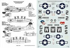 SUPERSCALE DECALS 1/72 B-17G Flying Fortress 490th BG 834th BS 486th BG (USAAF)