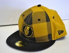 "Grenade New Era 59Fifty Yellow / Black Hat Ball Cap Limited Edition sz. 7 5/8"""