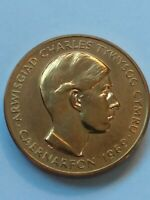 Prince of Wales Investiture Medal 1969 Gilt Bronze 32mm