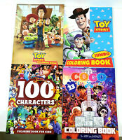 Lot Of 4 Disney Kids Coloring Books 2 Toy Story 1 100 Characters 1 Coco