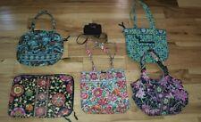 Vera Bradley LOT Of 6 DAISY DAISY Variety bag EXCELLENT wallet laptop java Blue