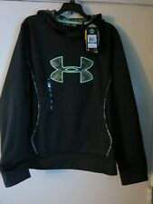 Under Armour Women's XXL Black Mossy Oak Camo Storm Hooded Sweatshirt Jacket
