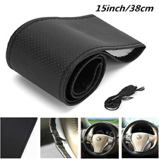 15 inch Car Steering Wheel Cover Braid On Thread Artificial leather With Needle