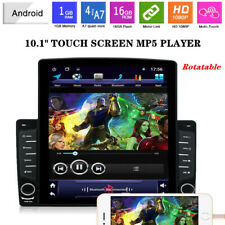 12V 1DIN Rotatable 10.1 inch Android 8.1 HD Car Stereo Radio MP5 Player GPS Nav