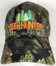 NEW! DEER HUNTER BUCK FOREVER OUTDOOR SPORT CAP HAT ORANGE CAMO HUNTING TRUCKER