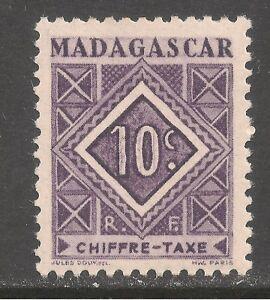 Madagascar (French) #J31 (D3) VF MINT LH - 1947 10c Postage Due