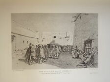 Eugène FROMENTIN 1820-1876 GRAVURE ORIENTALISTE SAHARA AIN MADHY ALGERIE 1880