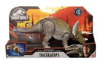 2020 Jurassic World Primal Attack Sound Strike Triceratops