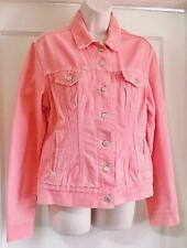 Womens PINK Levi Red Tab Denim Jacket Size Large Measurements in Pics