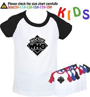 Doctor Who pattern Kids T-shirt Birthday Gift Boys Girls Graphic Tee Childs Tops