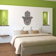 Removable Vinyl Mandala Flower Hamsa Fatima Hand Wall Sticker Decal Mural Design