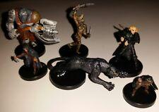 6 D&D Miniature Dungeons Dragons figures pathfinder WotC thunder