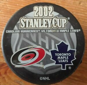 2002 Stanley Cup Playoffs - CAROLINA HURRICANES TORONTO MAPLE LEAFS hockey puck
