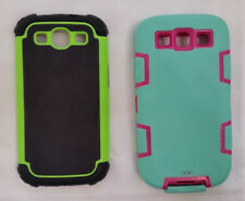Set of 2 Hybrid Silicone Hard Skin Case Cover For Samsung Galaxy S3 i9300 Lot