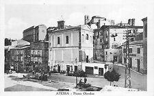 395) ATESSA (CHIETI) PIAZZA OBERDAN, ANIMATA, AUTOMOBILI.