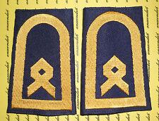 Schulterklappen Rangabzeichen Marine Hauptbootsmann gold blau NEU gewebt ##F94