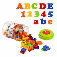 Letters Numbers Alphabet Plastic Magnets Vocabulary Educational Learning Spel...