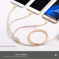 Fast  Charging Cable Charger Cord Cell Phone  USB  3 in 1  Multi Function