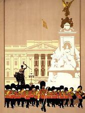Publicidad De Viaje Turismo Londres lner Guardia Victoria Memorial Cartel lv1282