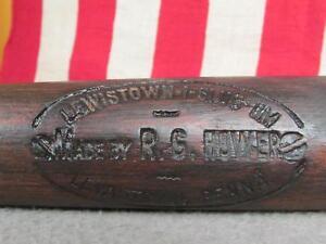 "Vintage Antique RG Hower Wood Baseball Bat Lewistown-I-Slug-Um Model 33"" PA.Rare"
