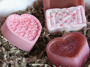 Heart Soap 3.5oz, Handmade. Many variations. Goats milk, Shea butter, Rose.