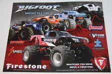 2014 Bigfoot Chevy Silverado Monster Truck Firestone postcard