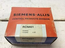Siemens Allis RCN40 New 120 VAC 10 Amp 4 Normally Open Contact Relay RCN401 RCN