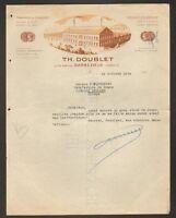 """BARBEZIEUX (16) USINE de CHAUSSURES """"Th. DOUBLET"""" en 1934"""