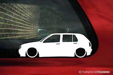 2x basse voiture outline stickers pour vw golf Mk3 (5-portes) gti 16v/VR6