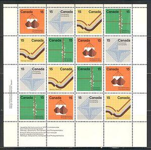 CANADA 1972, EARTH SCIENCE  Scott 585a SHEET, LOWER LEFT INSCRIPTIONS, MNH