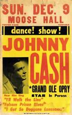 JOHNNY CASH CIRCA 50'S / 60'S GRAND OLE OPRY A3 CONCERT BILL POSTER PRINT