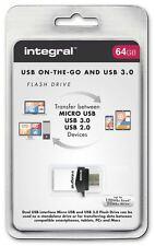 Integral 64GB OTG USB 3.0 Flash Drive per Android Tablet e telefoni e PC/MAC