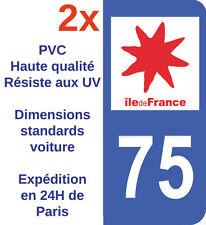 Sticker Autocollant immatriculation Adhésif Département 75 Paris Ile de France