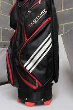 Slotline Golf Cart Trolley Bag 14 Way Divider Unisex Black Red White Easy Lift