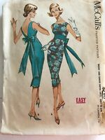 1950's VINTAGE SEWING PATTERN McCall's 4780 Misses Size 12 Bust 32 Wiggle Dress