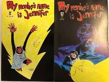 My Monkey's Name is Jennifer #1 and 2 Comic Book Set SLG 2002